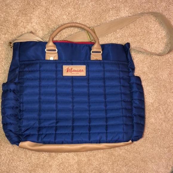 Maman Diaper bag- Navy in color (like new)